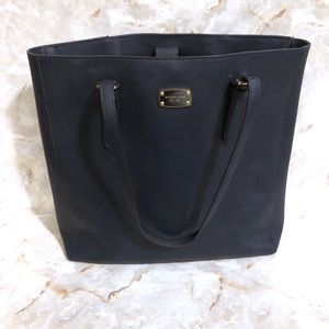 Michael Kors Navy Leather Tote